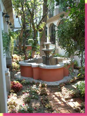 This private garden in front of the apartment doors and windows - click to see a larger image